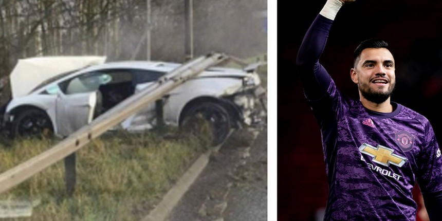 """Разбил Lamborghini за 220.000 долларов: вратарь """"Манчестер Юнайтед"""" попал в ДТП"""