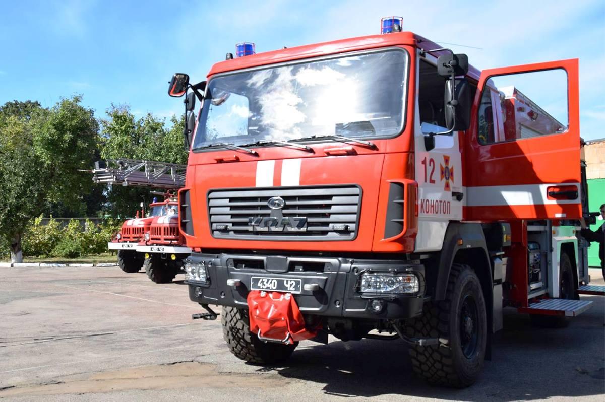 Это не пожарный МАЗ, а КрАЗ с мазовской кабиной