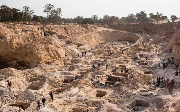 Добыча кобальта, критически важного для производства литий-ионных аккумуляторов, в Республике Конго