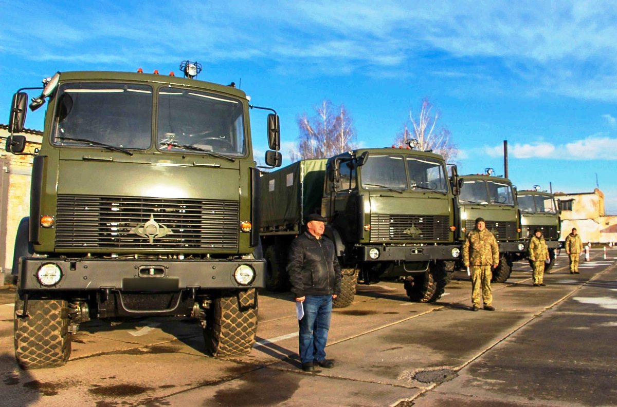 Украинские военные предпочитают МАЗы, собранные под маркой Богдан