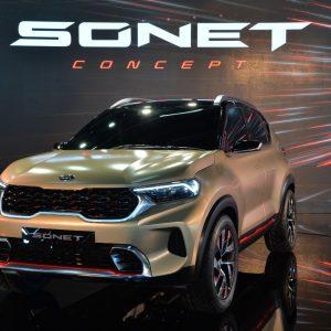 Kia представила в Дели концептуальный компактный кроссовер Sonet