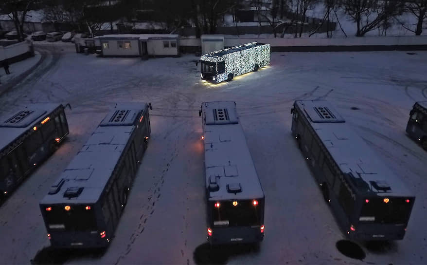 ГИБДД нашла нарушение в подсветке электробусов