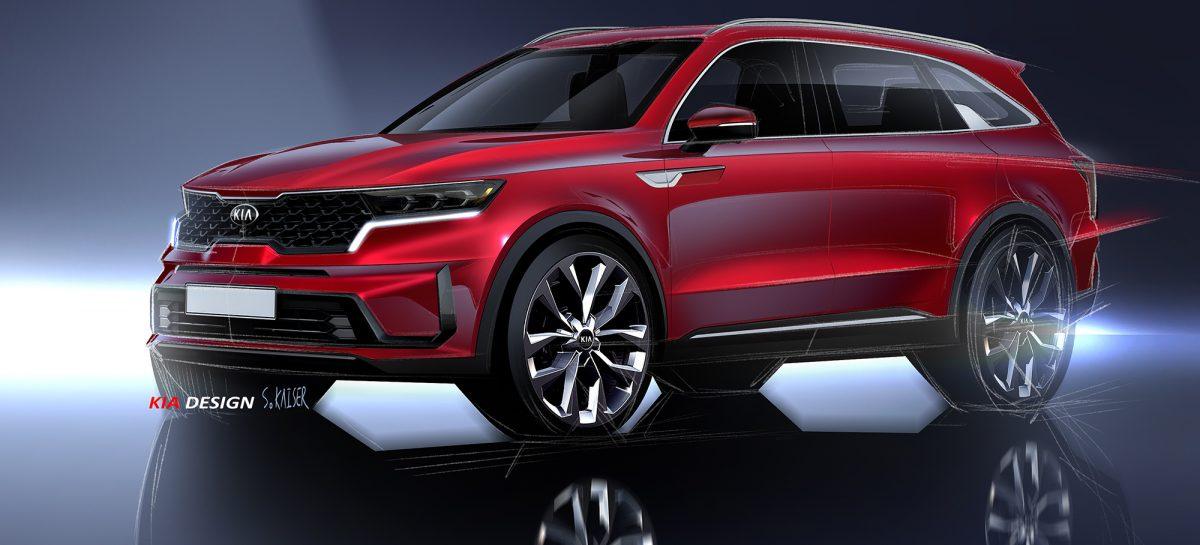 Kia Motors представляет новые изображения Sorento IV поколения