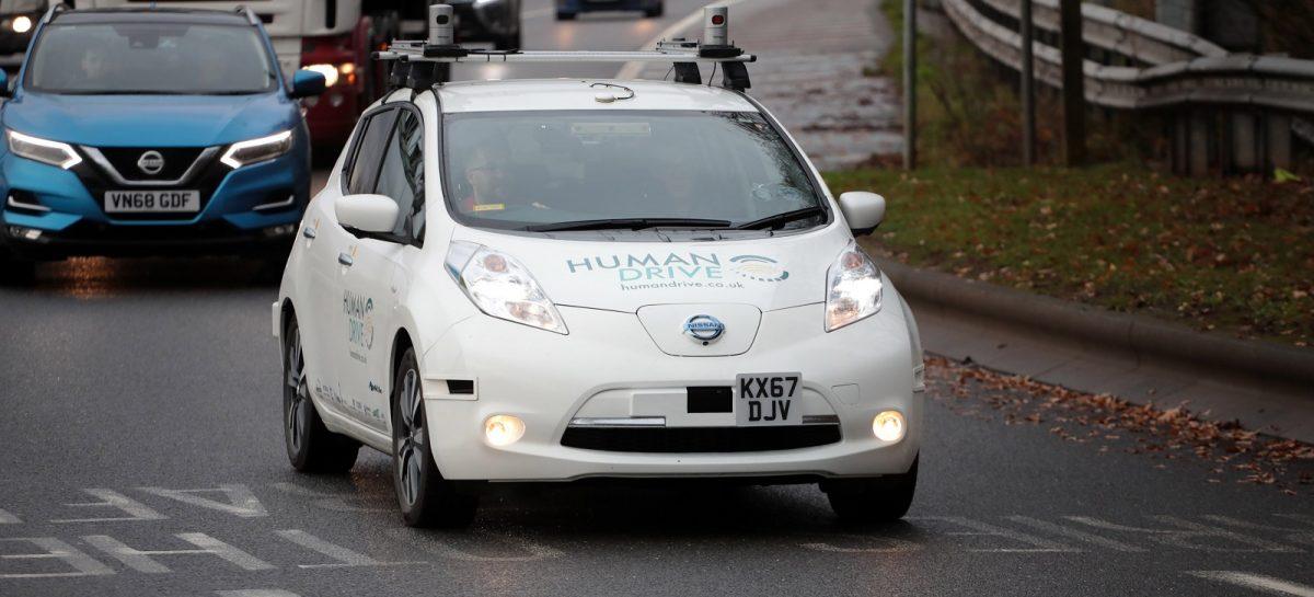 Nissan Leaf завершает самый длинный и сложный тест-драйв в автономном режиме в Великобритании