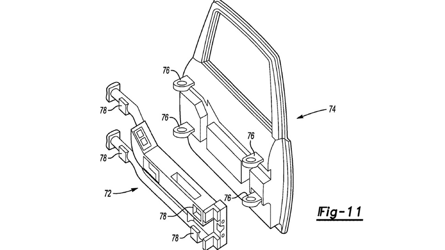 Ford запатентовал «быстросъемные» двери