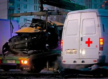 На Кутузовском проспекте произошло крупное ДТП