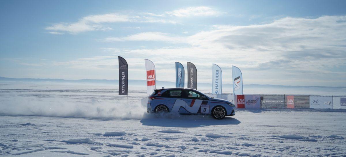 Hyundai i30 N впервые на льду Байкала