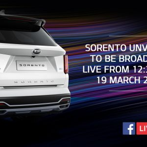 Мировая премьера нового поколения Kia Sorento пройдет в формате прямой трансляции в Facebook