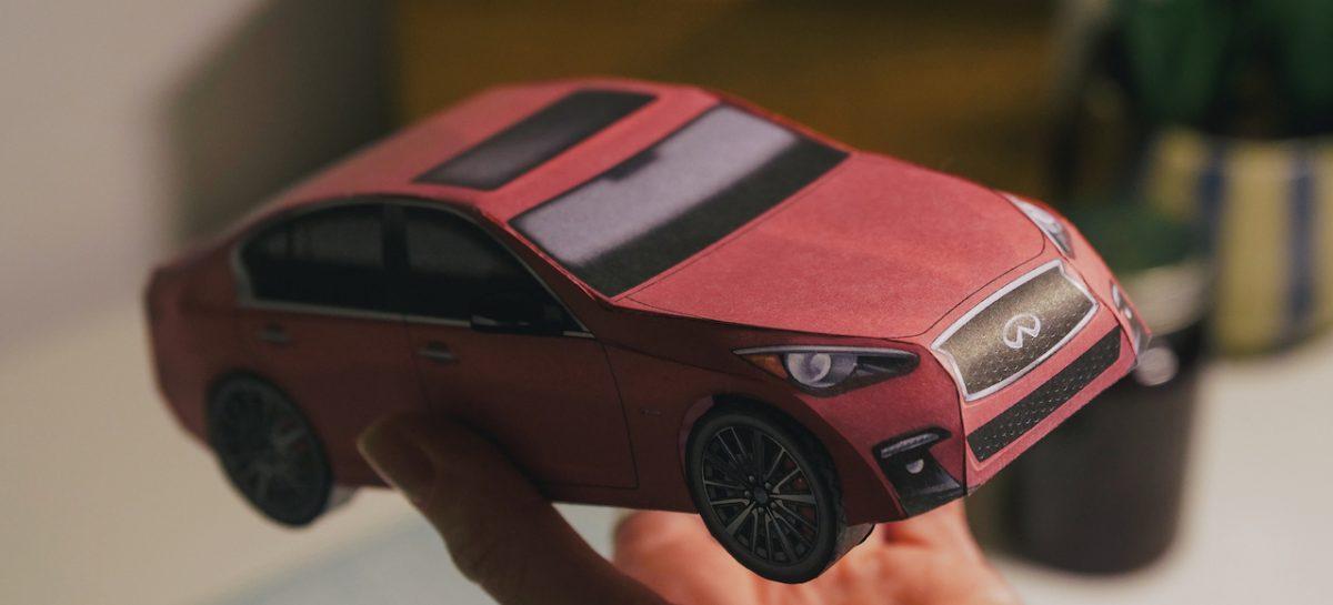Infiniti представляет автомобильные оригами