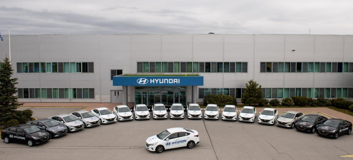 Российский завод Hyundai передал 18 автомобилей Санкт-Петербургу