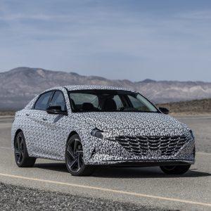 Hyundai показала первые изображения новой Hyundai Elantra N Line