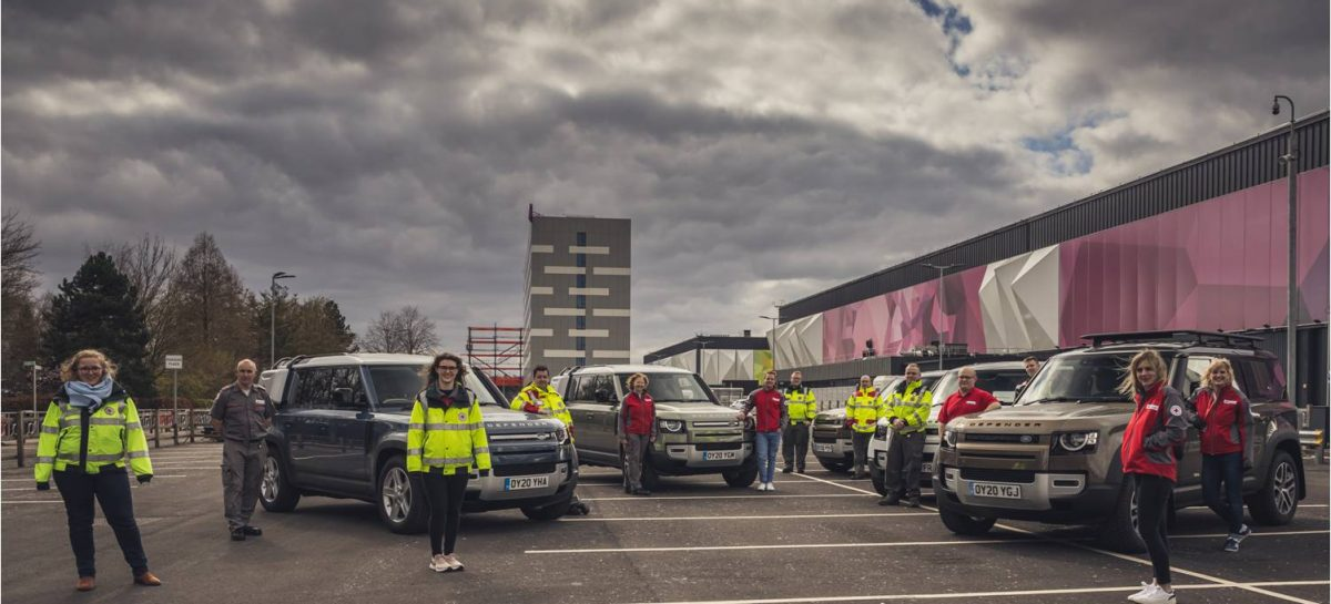 Jaguar Land Rover предоставила автомобили гуманитарным организациям для оказания помощи в период пандемии коронавируса