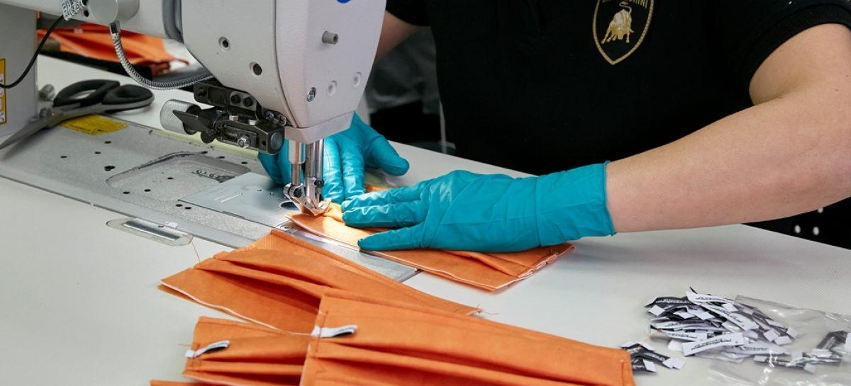 Automobili Lamborghini запускает производство хирургических масок и медицинских щитков