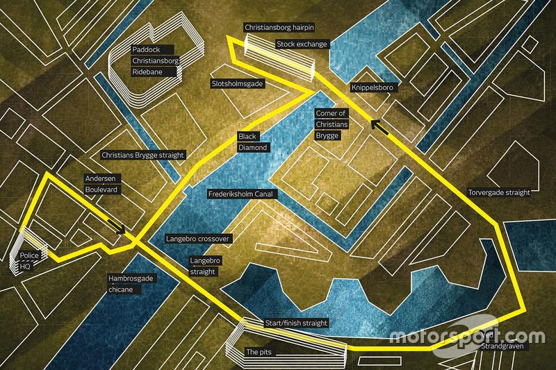 Схема городской трассы в Копенгагене
