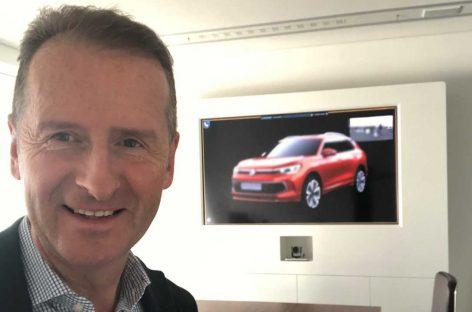 Глава Volkswagen случайно раскрыл внешность нового кроссовера