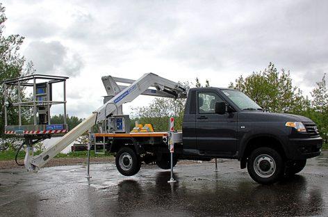 УАЗ выпускает новый автогидроподъемник для коммунальных служб