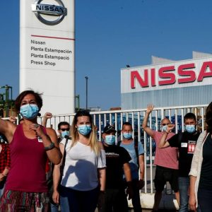 Сотрудники Nissan в Барселоне проводят протесты из-за закрытия предприятия