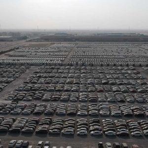 В сети показали гигантскую парковку разбитых суперкаров