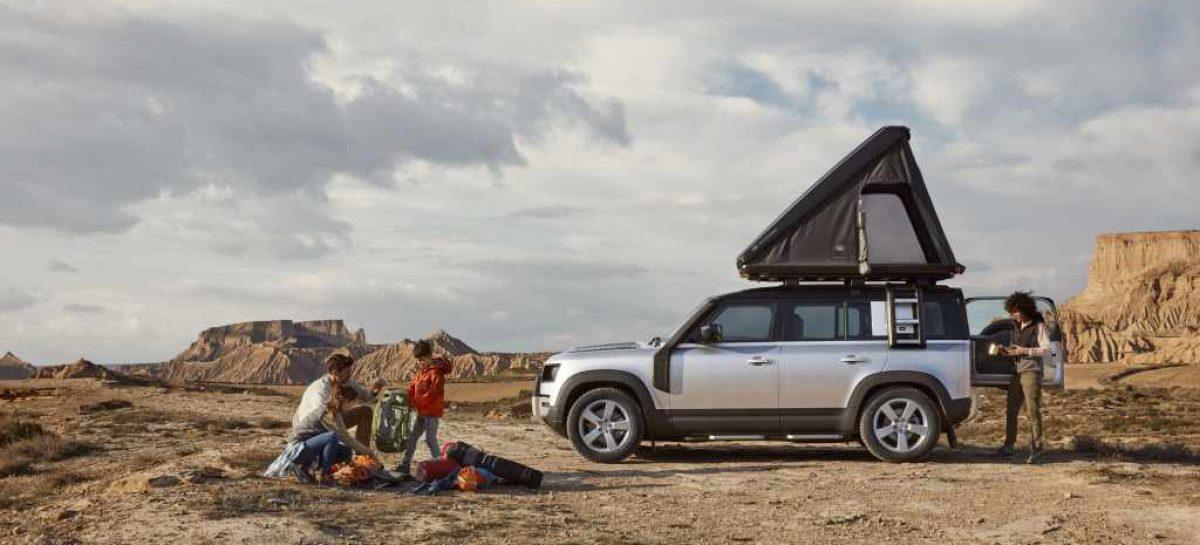 Палатку на крышу нового Defender от Land Rover и Autohome