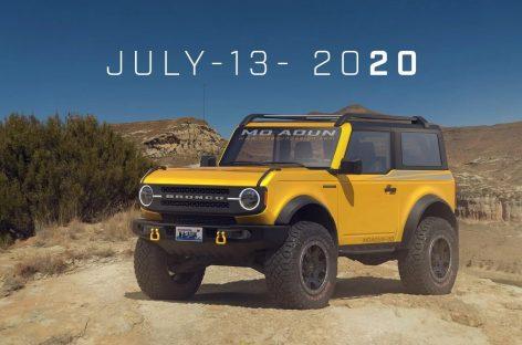 До презентации обновленного внедорожника Ford Bronco в металлическом кузове осталось около двух недель