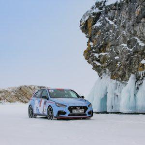 Скорость Hyundai i30 N во время заезда на 1000 км на льду занесена в Книгу рекордов России