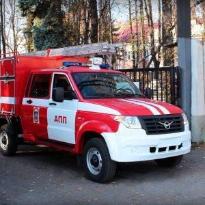 Вышла новая модификация УАЗ Профи - пожарный автомобиль первой помощи