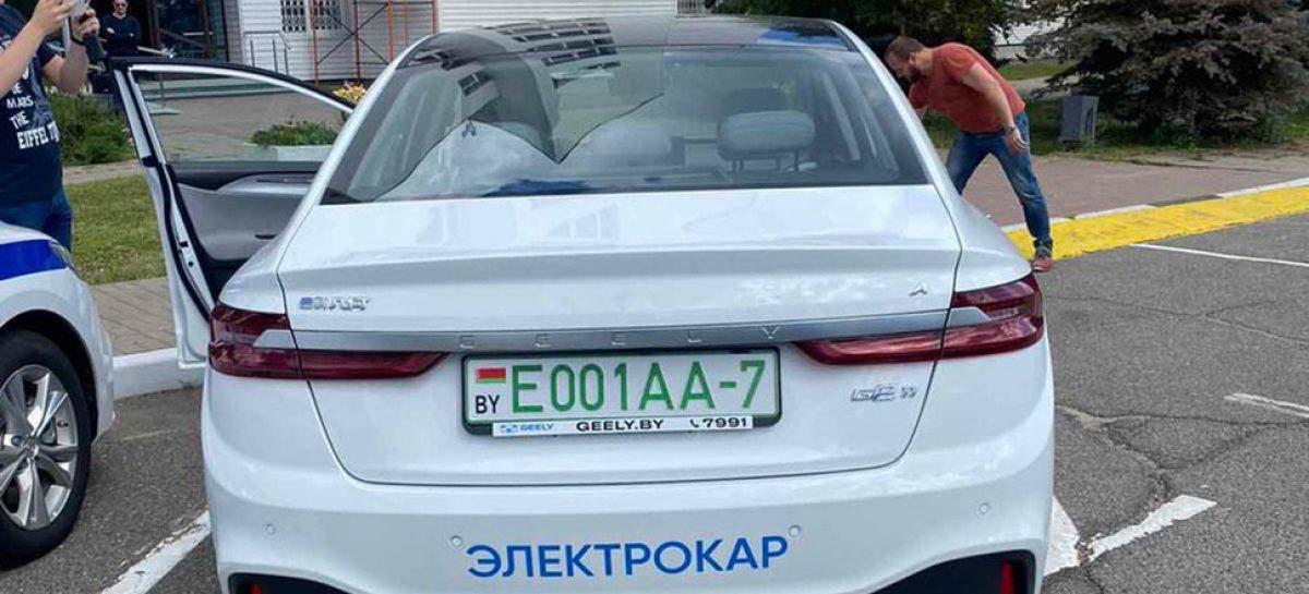 Первый зеленый номер в Минске получил электрокар Geely