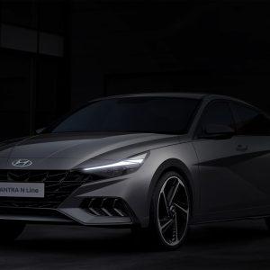 Hyundai представляет новый тизер Hyundai Elantra N Line
