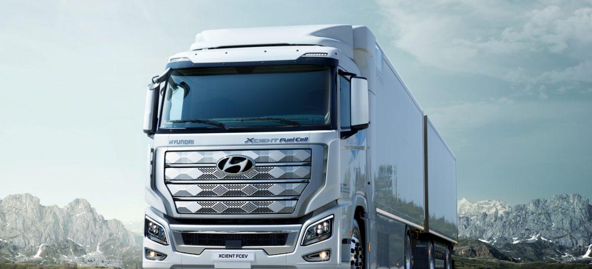 Hyundai Xcient Fuel Cell направляется в Европу для коммерческого использования
