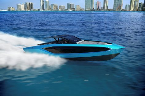 Lamborghini совместно с Italian Sea выпустил моторную яхту
