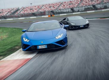На гоночном треке Moscow Raceway состоялась презентация суперспорткаров Lamborghini Huracán EVO