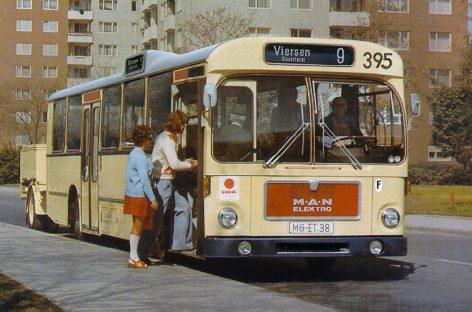 Первый электробус MANотмечает 50-летний юбилей