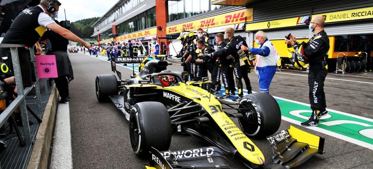 Renault DP World F1 Team на Гран-при Бельгии