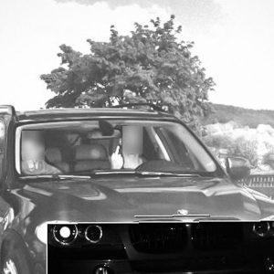 Водителя BMW оштрафовали на 130 тысяч рублей за неприличный жест