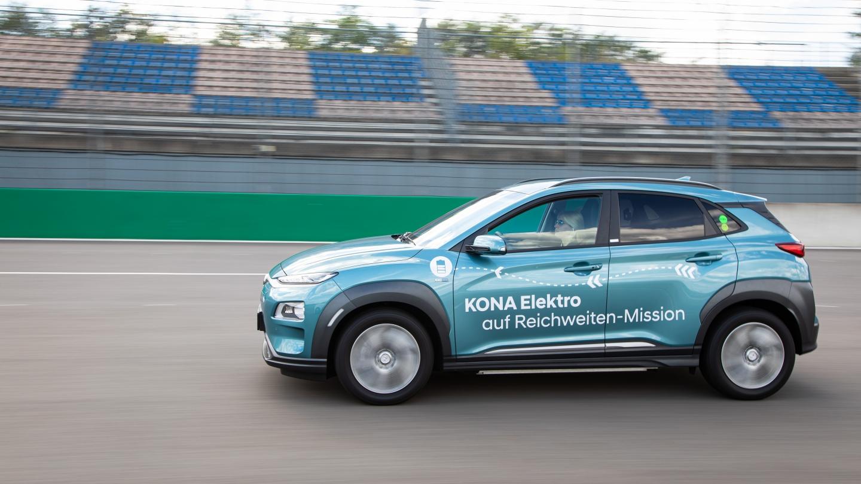 Hyundai Kona Elektro Rekordversuch