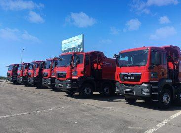 Выбор лидеров: 10 самосвалов MAN TGS 41.400 переданы ООО «Автотрасса» для строительства дорог в Саратове