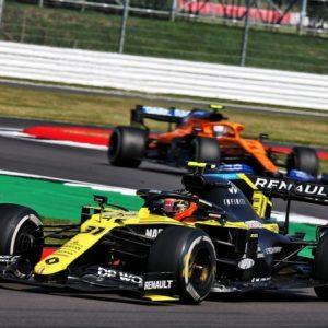 Renault DP World F1 Team на гран-при 70-летия