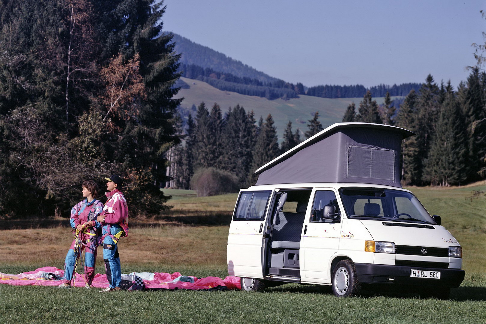 Multivan Allstar, California and double cab (l-to-r) were just a part of the large model range based on the T4.