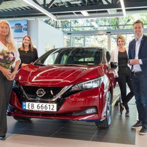 Nissan празднует выпуск 500 000-го экземпляра LEAF