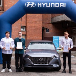 Студенты-автомеханики получили от Hyundai Motor новенький Solaris и стипендии