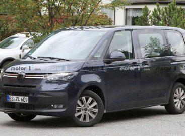 Новый Volkswagen Transporter T7 попался фотошпионам