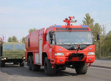 В Брянске замечена российская пожарная машина нового поколения