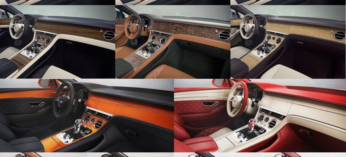 Натуральный шпон и не только: более 5000 вариантов отделки салона Bentley
