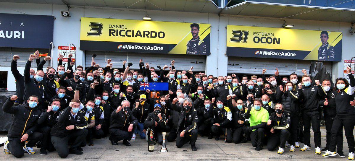 Первый подиум Renault DP World F1 Team в новой истории Формулы-1