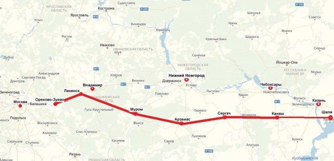 Москва-Казань скоростная автодорога