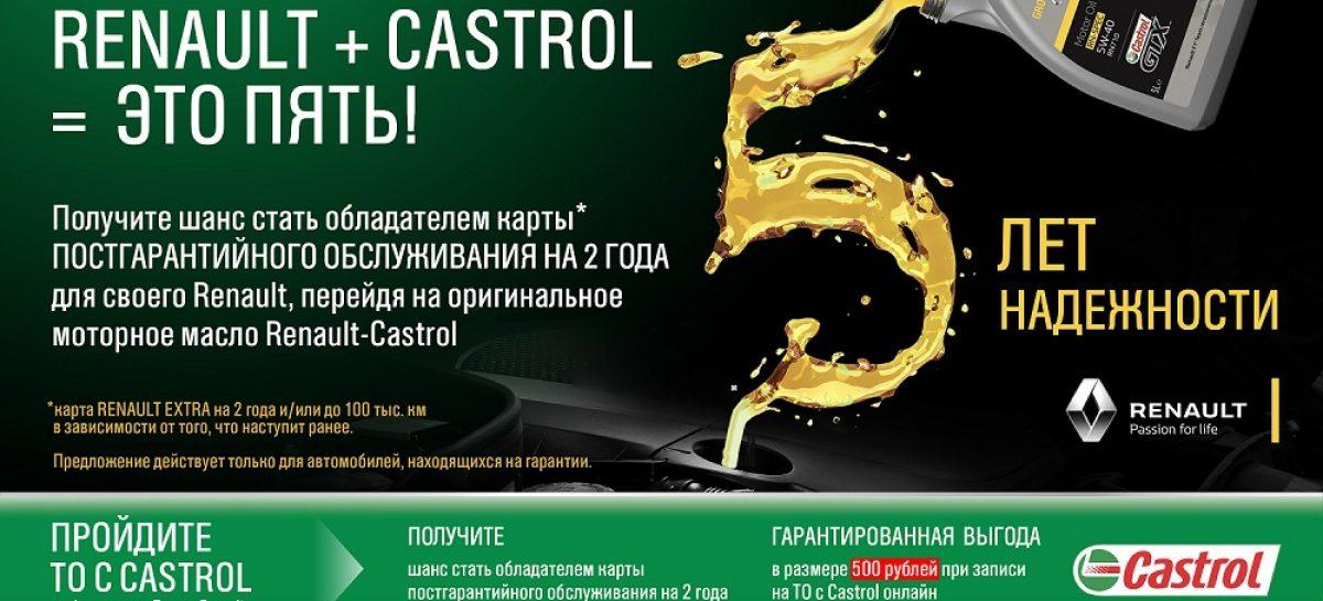 Castrol и Renault проведут совместную акцию «Renault + Castrol = это пять!»