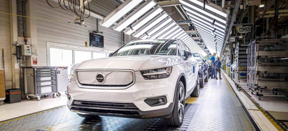 Volvo начинает производство полностью электрического XC40 Recharge P8