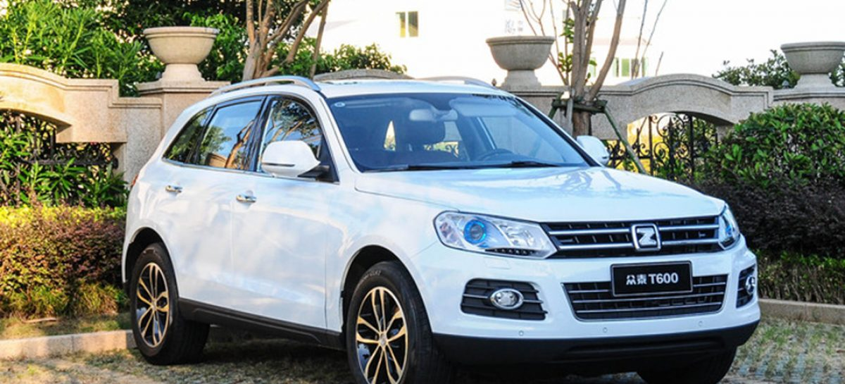 Китайская Zotye не смогла продать в РФ ни одного автомобиля в октябре