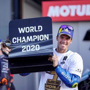 Гонщик команды Suzuki Ecstar Джоан Мир стал чемпионом сезона-2020 MotoGP