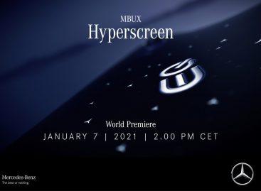 Впечатляющее начало нового года: Mercedes-Benz представляет MBUX Hyperscreen